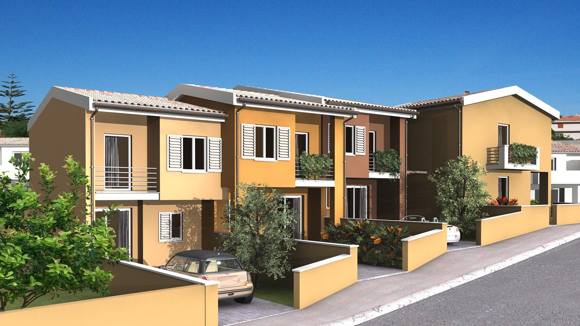Looking to buy new property in Sardinia? Cheap terraced houses in Valledoria, beach at 5 minutes.