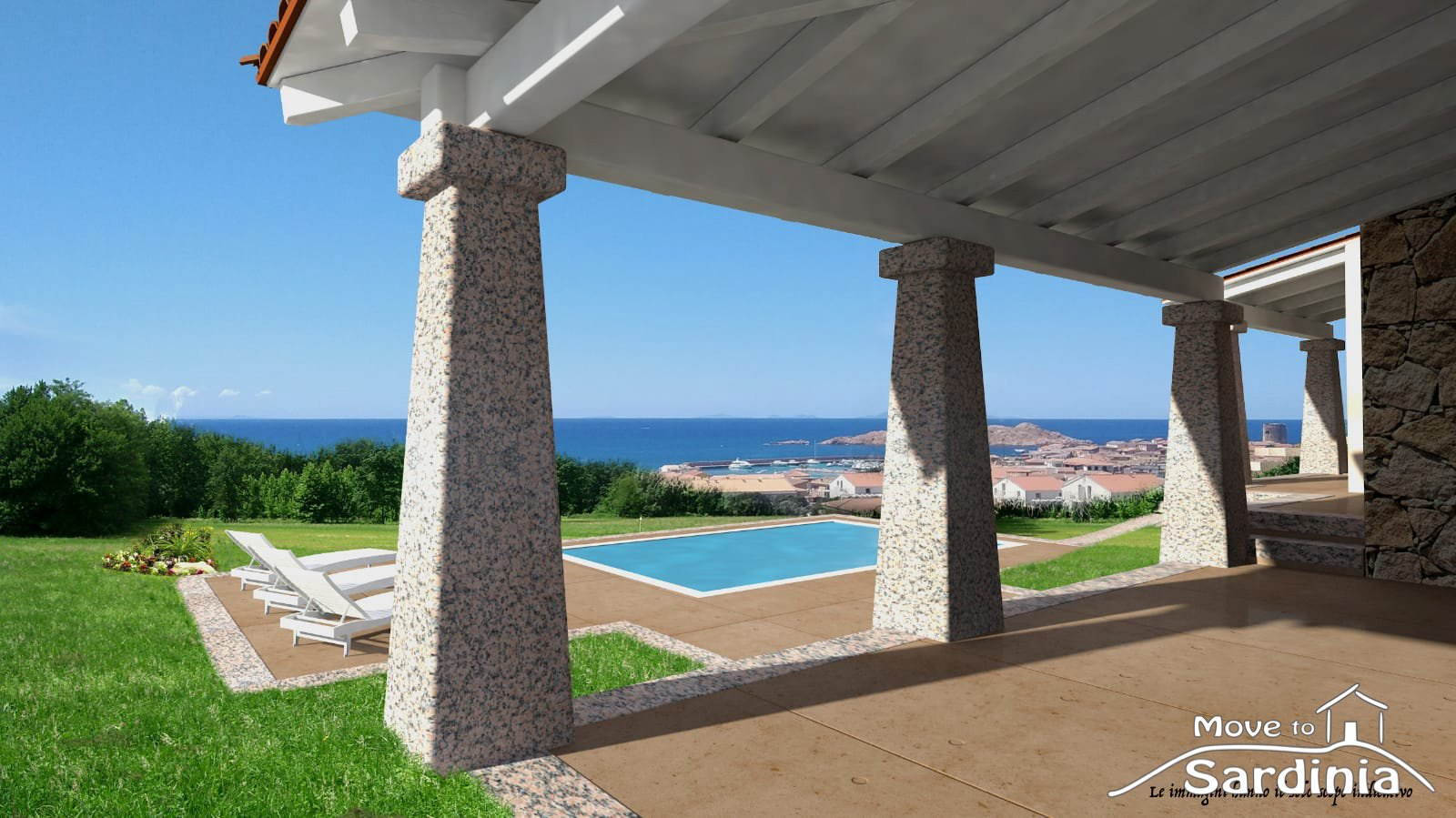 Apartments and villas with amazing sea view for sale in Isola Rossa, Northern Sardinia